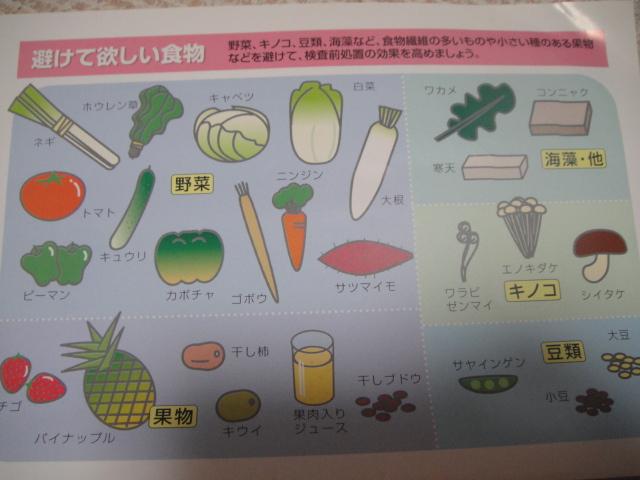 食事 制限 検査 大腸